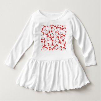 Pattern illustration peace doves with heart dress