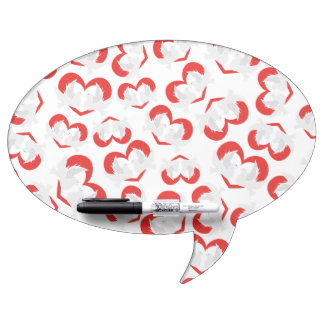 Pattern illustration peace doves with heart dry erase board