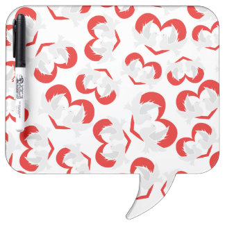Pattern illustration peace doves with heart Dry-Erase boards