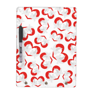 Pattern illustration peace doves with heart dry erase white board