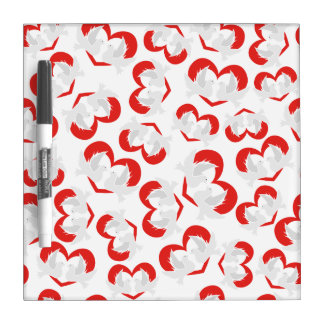 Pattern illustration peace doves with heart Dry-Erase whiteboard
