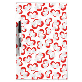 Pattern illustration peace doves with heart Dry-Erase whiteboards