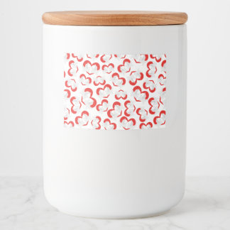 Pattern illustration peace doves with heart food label