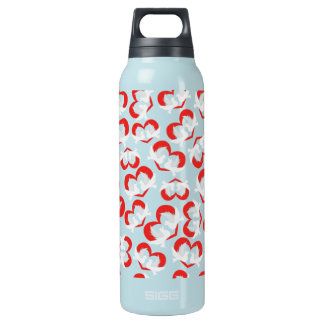Pattern illustration peace doves with heart insulated water bottle