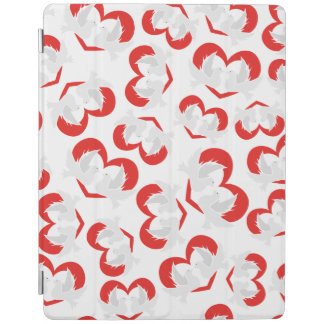 Pattern illustration peace doves with heart iPad cover