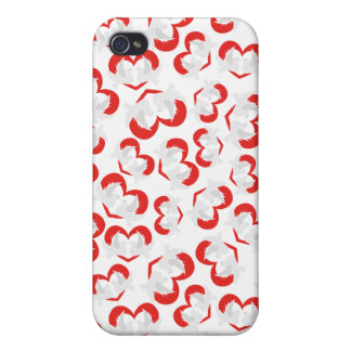 Pattern illustration peace doves with heart iPhone 4 case