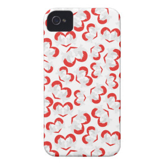 Pattern illustration peace doves with heart iPhone 4 cases