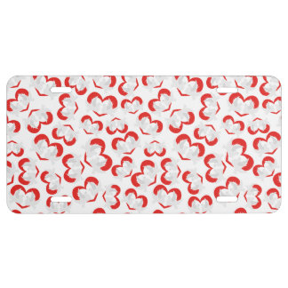 Pattern illustration peace doves with heart license plate