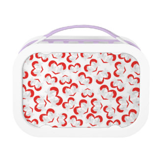 Pattern illustration peace doves with heart lunch box
