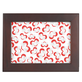 Pattern illustration peace doves with heart memory box