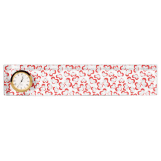 Pattern illustration peace doves with heart nameplate