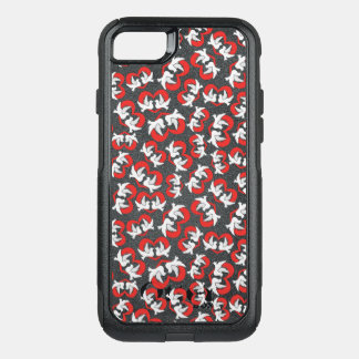 Pattern illustration peace doves with heart OtterBox commuter iPhone 8/7 case