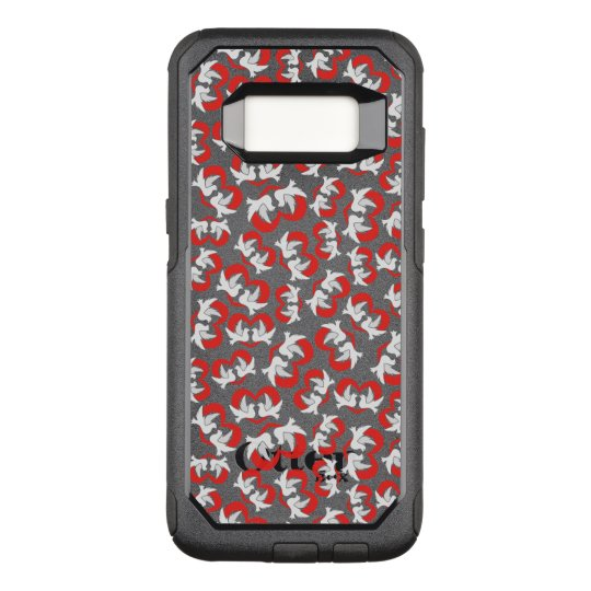 Pattern illustration peace doves with heart OtterBox commuter samsung galaxy s8 case