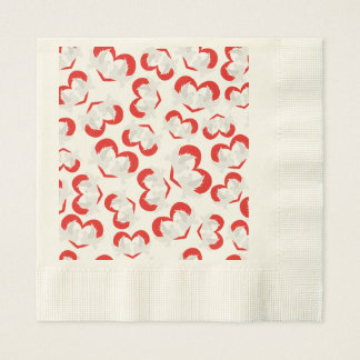 Pattern illustration peace doves with heart paper napkin