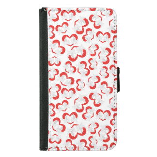 Pattern illustration peace doves with heart samsung galaxy s5 wallet case
