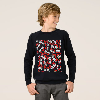 Pattern illustration peace doves with heart sweatshirt