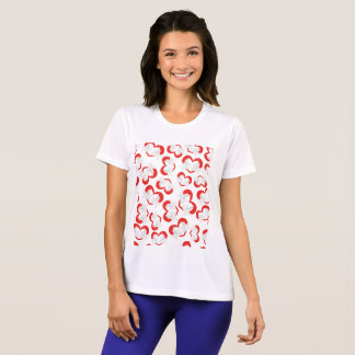 Pattern illustration peace doves with heart T-Shirt