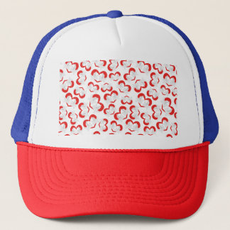Pattern illustration peace doves with heart trucker hat
