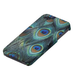 Pattern in male peacock feathers iPhone 4/4S case