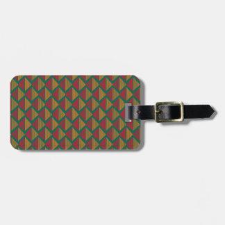 pattern K Luggage Tag
