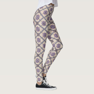 Pattern Lavender, Plum and Purple Leggings