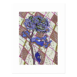 pattern-lithium flower postcard