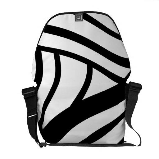 pattern messenger bag