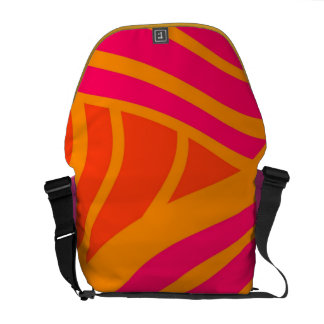 pattern courier bag