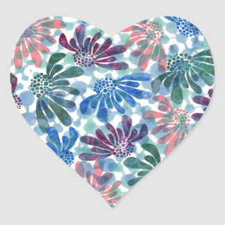pattern N Heart Sticker