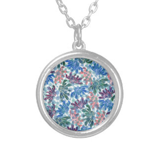 pattern N Silver Plated Necklace