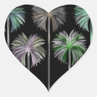 Pattern O Heart Sticker