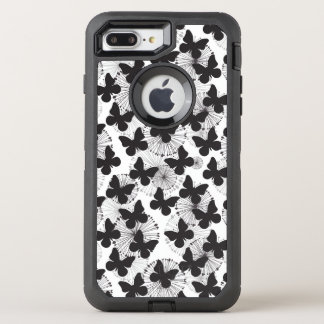 pattern of a butterfly OtterBox defender iPhone 8 plus/7 plus case