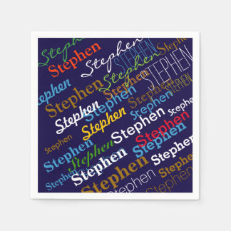 pattern of color names . personalized disposable napkin