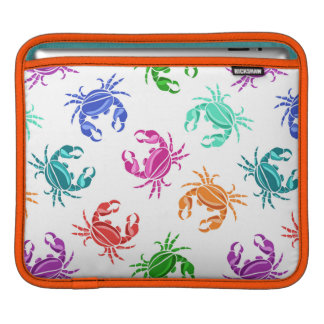 Pattern Of Crabs Sleeves For iPads