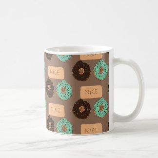 Pattern of doughnuts & Nice biscuits Coffee Mug