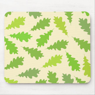 Pattern of Green Leaves. Mouse Pad