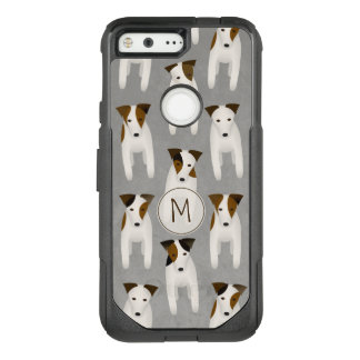pattern of jack russells whimsical OtterBox commuter google pixel case