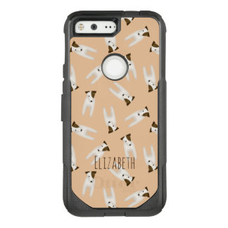 pattern of jack russells with head tilted OtterBox commuter google pixel case