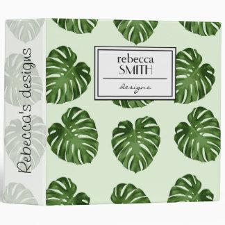 Pattern Of Leaves, Palm Leaves - Green Vinyl Binder
