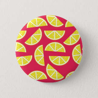 pattern of lemon 2 inch round button