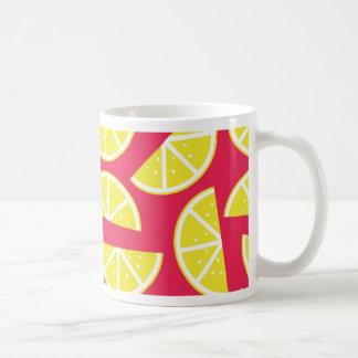 pattern of lemon coffee mug