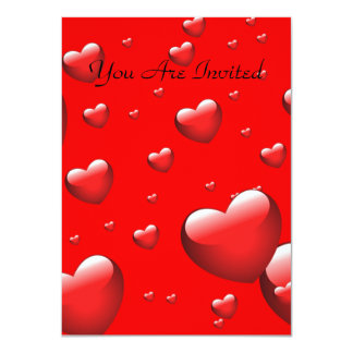Pattern of many Floating Hearts. Card
