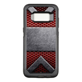 Pattern of metal plate OtterBox commuter samsung galaxy s8 case