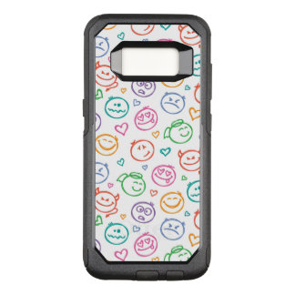 pattern of smiles OtterBox commuter samsung galaxy s8 case