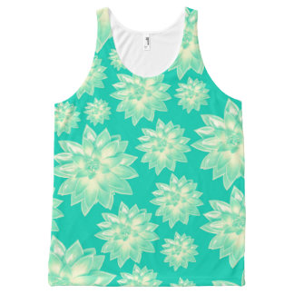 Pattern of succulents All-Over-Print tank top