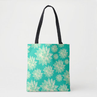 Pattern of succulents tote bag