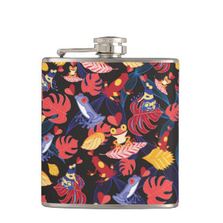 Pattern Of The Lovers Frogs Flask