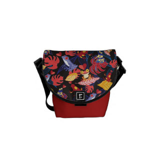 Pattern Of The Lovers Frogs Messenger Bags