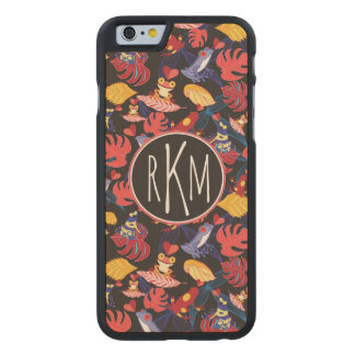 Pattern Of The Lovers Frogs | Monogram Carved® Maple iPhone 6 Slim Case