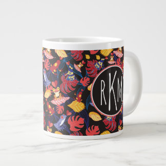 Pattern Of The Lovers Frogs | Monogram Giant Coffee Mug